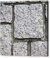 Texture Of Small Stone Structure Road  Acrylic Print