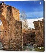 The Ancient Bridge At Ponte Novu In Corsica Acrylic Print