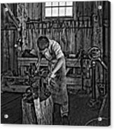 The Apprentice Monochrome Acrylic Print by Steve Harrington