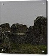 The Battered Remains Of The Urquhart Castle In Scotland Acrylic Print