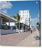 The Beach In Hollywood Florida Acrylic Print