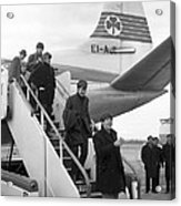 The Beatles arrive in Ireland 1963 Acrylic Print