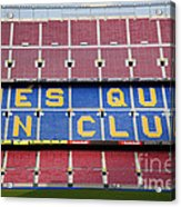 The Camp Nou Stadium In Barcelona Acrylic Print