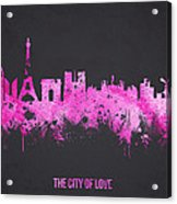 The City Of Love Acrylic Print
