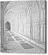 The Cloister In Gloucester Cathedral Acrylic Print