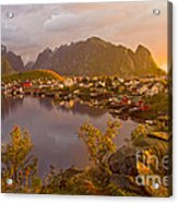 The Day Begins In Reine Acrylic Print
