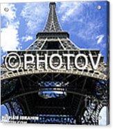 The Eiffel Tower - Paris - France Acrylic Print