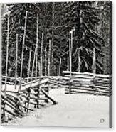 The Fence Of Kovero Acrylic Print