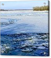 The Frozen Dnieper River Acrylic Print