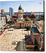 The Gendarmenmarkt And German Cathedral In Berlin Acrylic Print
