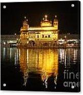 The Golden Temple At Amritsar At Night Acrylic Print