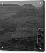 The Grand Canyon In Black And White Acrylic Print