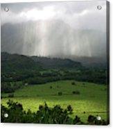 The Green Valley Surrounding Hanalei Acrylic Print