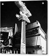 the harley davidson cafe on Las Vegas boulevard Nevada USA Acrylic Print