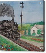 The Hillsboro Local Passing My Birthplace At Sardinia Acrylic Print