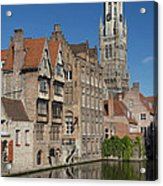The Historic Center Of Bruges Acrylic Print