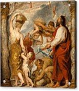 The Israelites Gathering Manna In The Desert Acrylic Print
