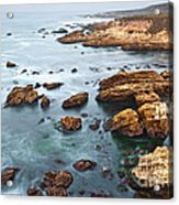 The Jagged Rocks And Cliffs Of Montana De Oro State Park In California Acrylic Print