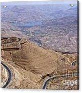 The King's Highway At Wadi Mujib Jordan Acrylic Print by Robert Preston