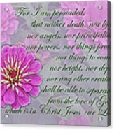 The Love Of God Acrylic Print