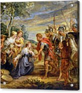 The Meeting Of David And Abigail Acrylic Print