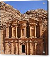 The Monastery Sculpted Out Of The Rock At Petra In Jordan Acrylic Print by Robert Preston