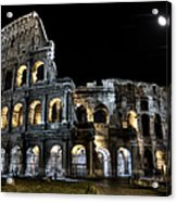The Moon Above The Colosseum No2 Acrylic Print