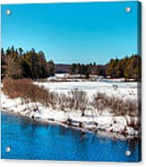 The Moose River - Old Forge New York Acrylic Print