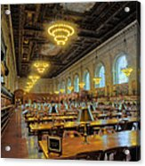 The New York Public Library Acrylic Print