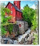 The Old Red Mill Jericho Vermont Acrylic Print