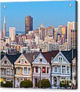 The Painted Ladies Of San Francisco Acrylic Print
