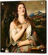 The Penitent Magdalene Acrylic Print