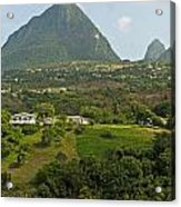 The Pitons In Saint Lucia Acrylic Print
