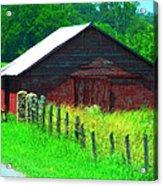 The Red Barn Acrylic Print