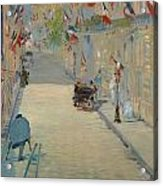 The Rue Mosnier With Flags Acrylic Print