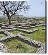 The Ruins Of Sirkap City At Taxila In Pakistan Acrylic Print