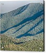 The Simple Layers Of The Smokies At Sunset - Smoky Mountain Nat. Acrylic Print