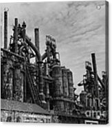The Steel Mill In Black And White Acrylic Print