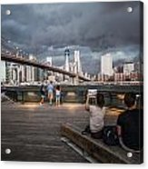 The Storm Over Manhattan Acrylic Print