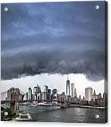 The Storm Over Manhattan Downtown Acrylic Print