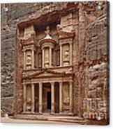 the treasury Nabataean ancient town Petra Acrylic Print
