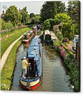 The Trent And Mersey Canal At Alrewas Acrylic Print