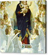 The Virgin With Angels Acrylic Print