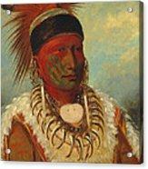 The White Cloud Head Chief of the Iowas Acrylic Print