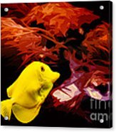The Yellow Queen Acrylic Print