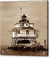 Thomas Point Shoal Lighthouse Sepia No. 2 Acrylic Print