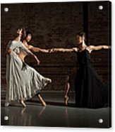 Three Ballet Dancers Performing Together Acrylic Print