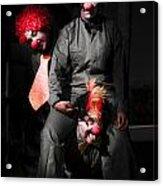 Three Clowns Having Fun Acrylic Print