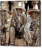 Three  Revolutionary Soldiers With Rifles Unknown Mexico Location Or Date-2014 Acrylic Print