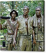 Three Soldiers Statue Acrylic Print